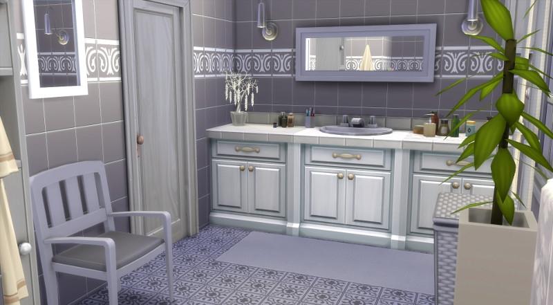 Mas proven al sims 4 telechargement cc maison - Salle de bain provencale ...