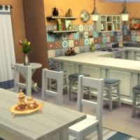 Mas Provencal Sims 4 Cuisine  salle à manger
