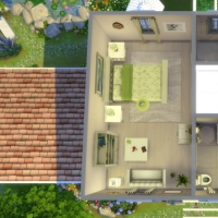 Mas Provencal Sims 4 Plan de l'étage