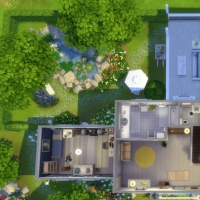 Mas Provencal Sims 4 Plan du rez-de-chaussée