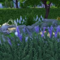 Mas Provencal Sims 4 Vue rapprochée de l'arrière de la maison