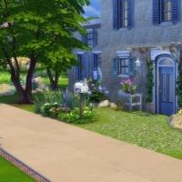 Mas Provencal Sims 4 Vue rapprochée de l'avant de la maison