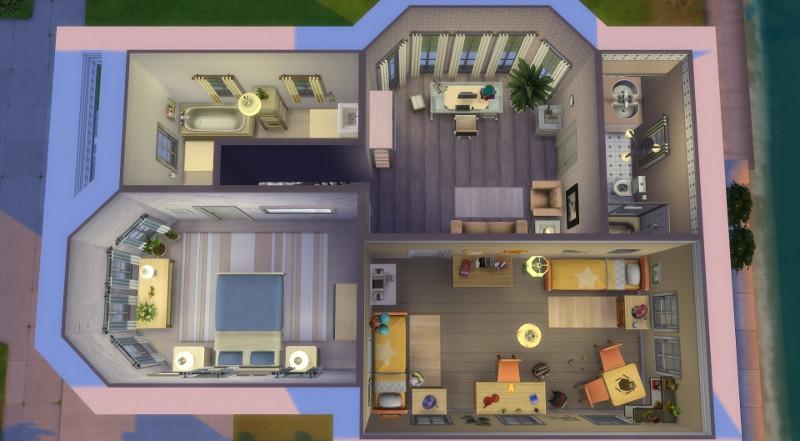 Sims 4 maison sans francisco house - San francisco maison victorienne ...