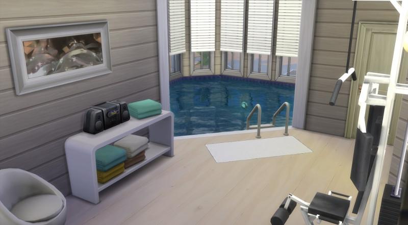 Sims 4 maison sans francisco house for Salle de sport avec piscine