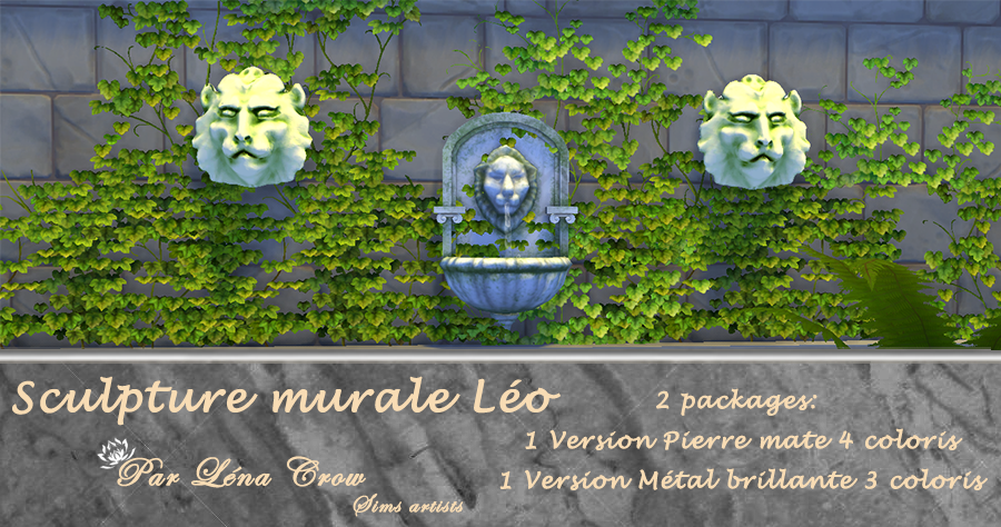 Sculpture murale Leo page de presentation