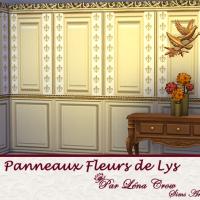 Panneaux Fleur de Lys variation panneaux de bois