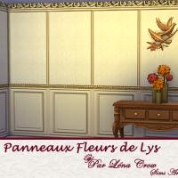 Panneaux Fleur de Lys variation unie