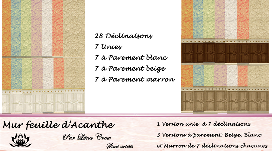 Mur Feuille d'Acanthe Catalogue