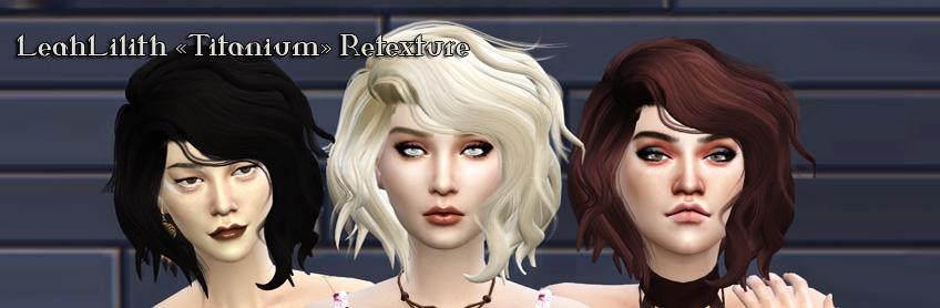 Retexture d'une chevelure de LeahLilith