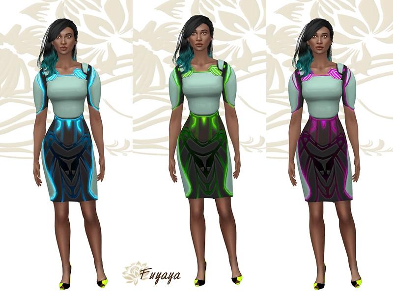 Robe Alien Sims 4 Neon