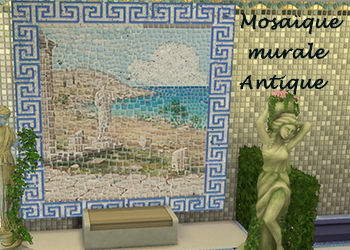 Mosa�que murale Antique