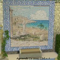 Variation frise bleue et paysage
