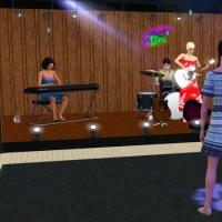 Le bar intérieur - la scène de concert