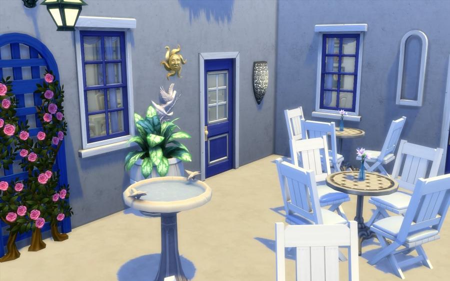 Sims construction restaurant grec