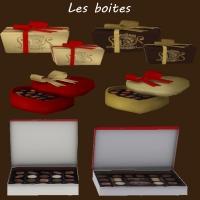 Des boites de chocolats et bonbons