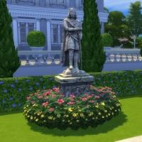 Le Castelet - statue du Roi