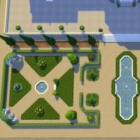 Le Castelet - vue aérienne du jardin à la franà§aise
