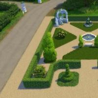Le Castelet - vue g�n�rale de la partie gauche du jardin