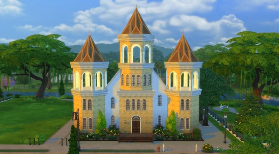 Eglise de la Trinit� - fa�ade avant