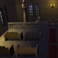 Eglise de la Trinité - l'autel et les statues