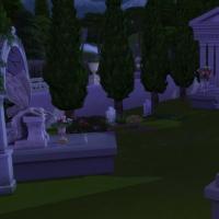 Eglise de la Trinité - vue générale du cimetière