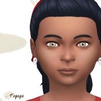 La paire de boucle d'oreille de face