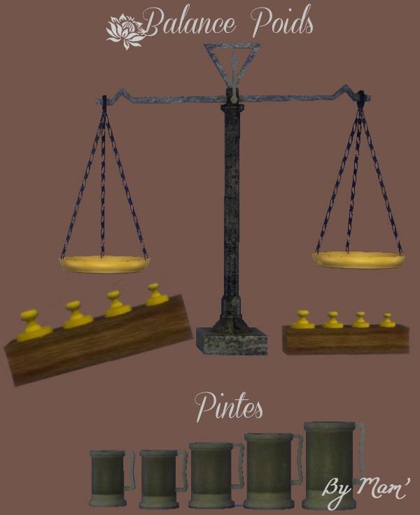 Balance-Poids-Pintes