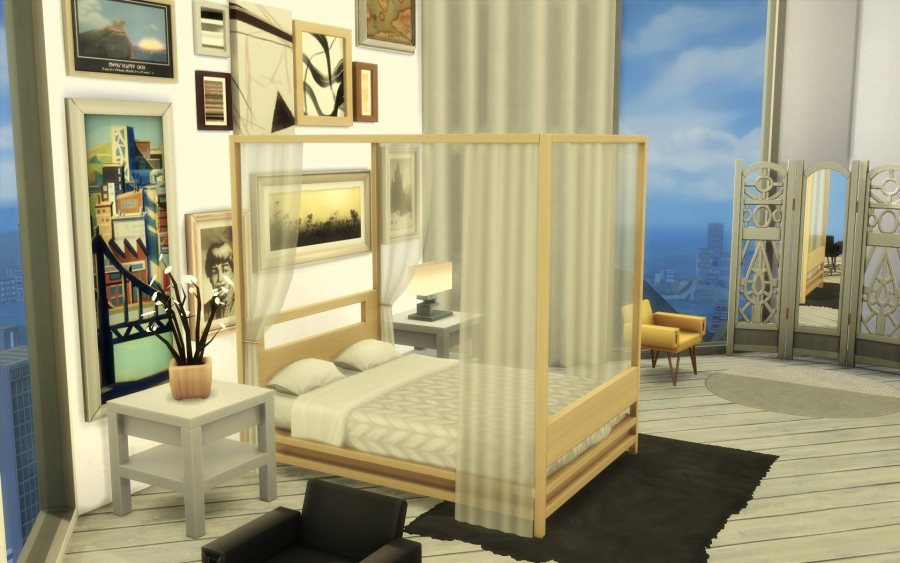 Sims 4 appartement relooking construction decoration build for Relooking chambre parents