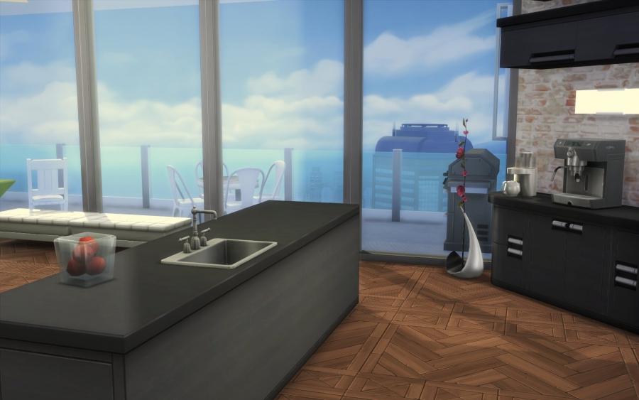 Sims 4 appartement relooking construction decoration build for Cuisine d appartement