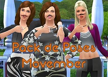 Pack de pose du Movember