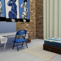 Penthouse l'Indus chambre enfant bleue 1