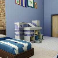Penthouse l'Indus chambre enfant bleue 2