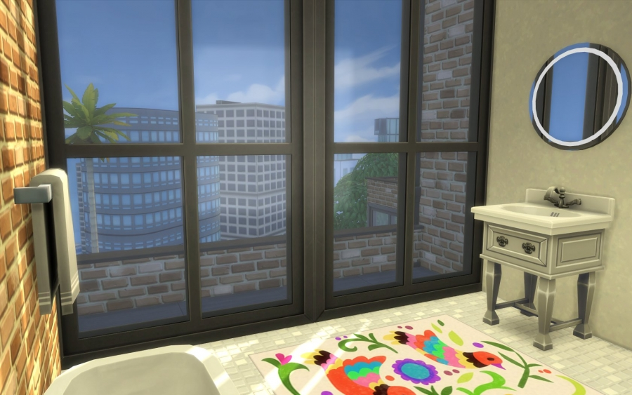 Penthouse constructions sims 4 building for Salle bain indus