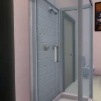 Penthouse l'Indus salle de bain chambre enfant bleue