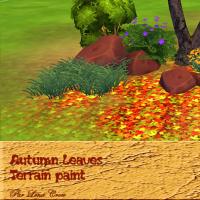 Autumn Leaves peintures de terrain automne S4 pourpre vert