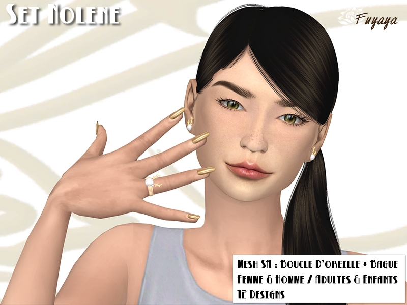 Set Nolene : bague et boucle d'oreille