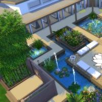 Spa du Lotus Blanc - les bassins et les portails d'entr�e