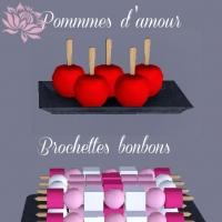 Pommes-d'amour-et-brochettes-bonbons