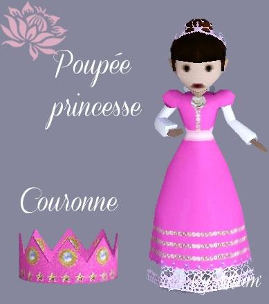 Poup�e-princesse-et-couronne