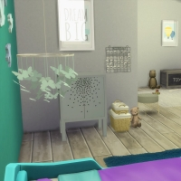 Chambre bleue avec CC pour bambin 1