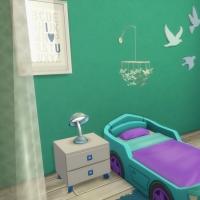 Chambre bleue avec CC pour bambin 2