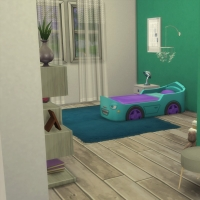 Chambre bleue avec CC pour bambin 3