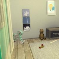 Chambre bleue avec CC pour bambin 4
