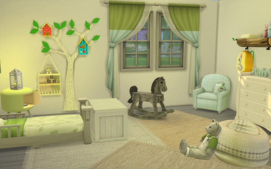 Sims 4 chambre bambin cc toddler bedroom for Decoration maison sims 4