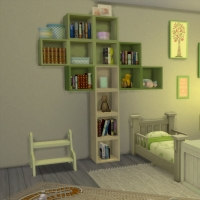 Chambre verte avec CC  pour bambin 2