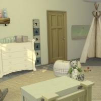 Chambre verte avec CC  pour bambin 3