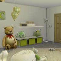 Chambre verte avec CC  pour bambin 4