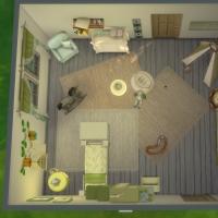 Chambre verte avec CC  pour bambin 5