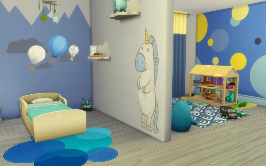 Sims 4 chambre bambin no cc toddler bedroom for Decoration maison sims 4