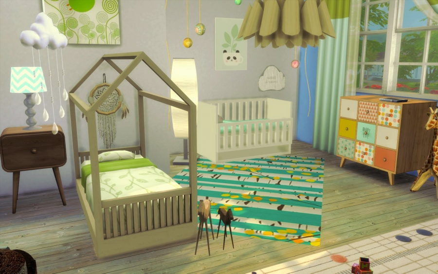Sims 4 maison boheme cc custom content chic for Sims 3 chambre bebe